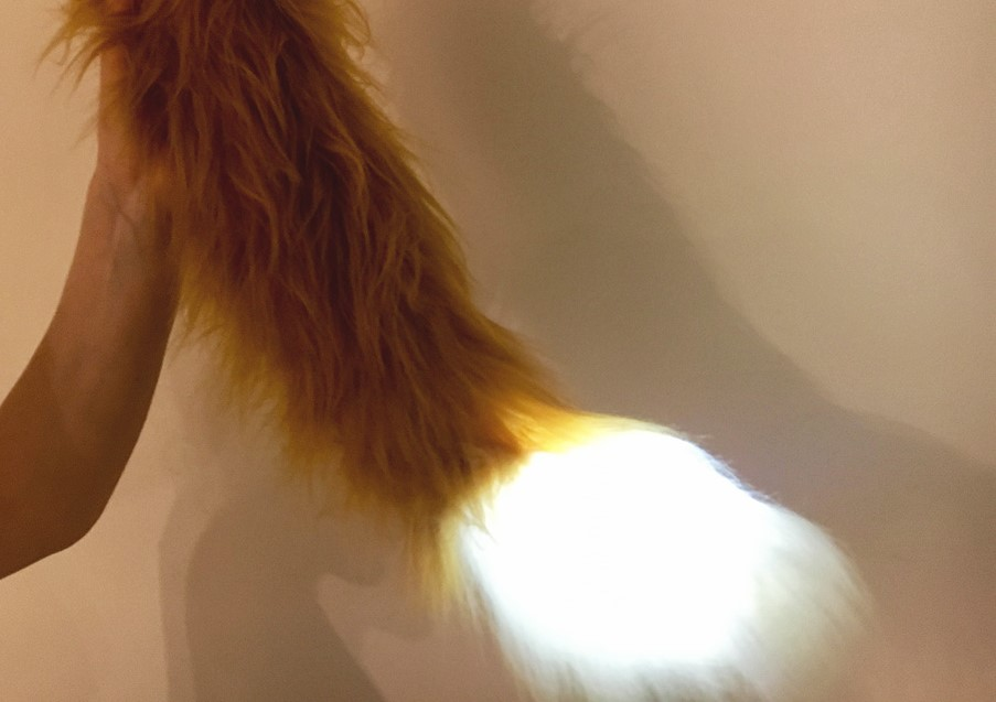 moving fox tail with glow tip